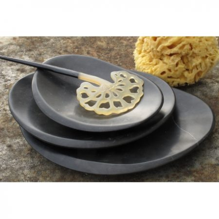 coupelle galet marbre noir karawan