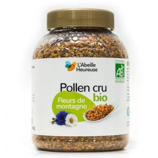 pollen cru fleurs de montagne bio