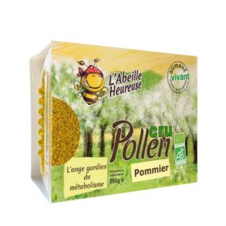 pollen cru de pommier bio
