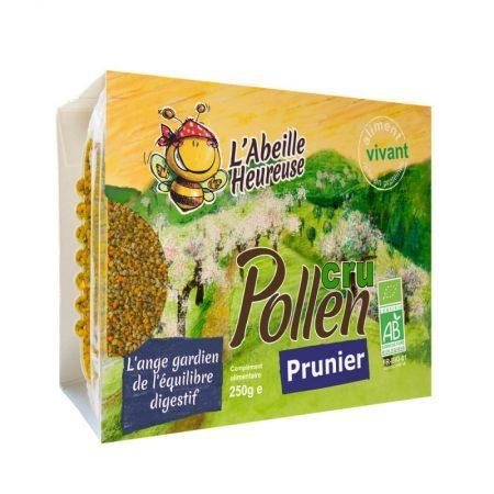 pollen cru de prunier bio