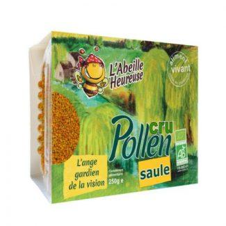 pollen cru de saule bio