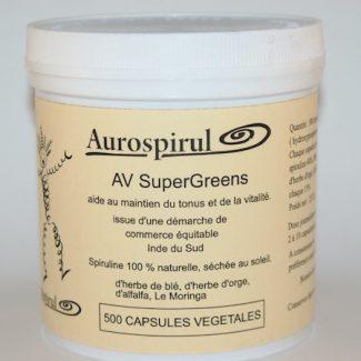av supergreen capsules organic superaliments verts