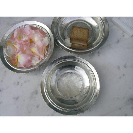 assiette creuse ancienne cuivre etame syrie karawan