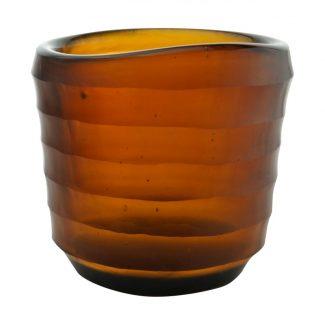photophore votive uno ambre verre recyclé karawan
