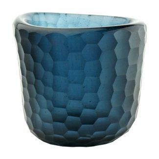photophore votive uno indigo verre recyclé karawan