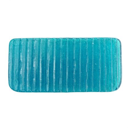 porte-savon rectangle ice aqua verre recyclé soufflé à la bouche karawan