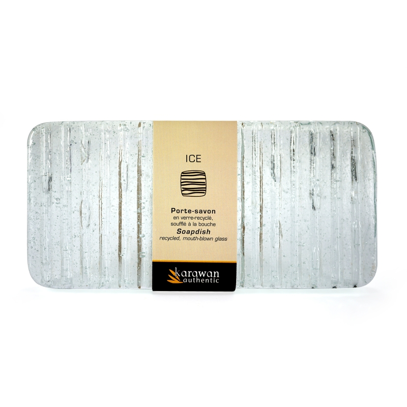 Porte savon rectangle ice clear for Porte savon en verre