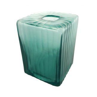 vase aqua cube verre recyclé karawan