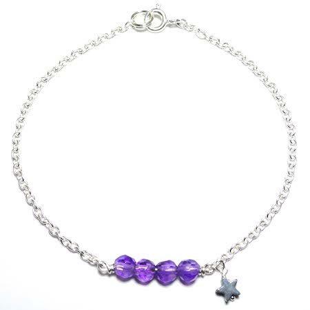 bracelet améthyste pierre naturelle lithothérapie