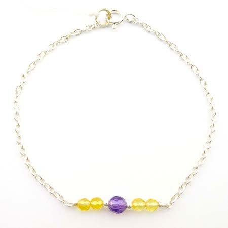 bracelet améthyste citrine lithotherapie pierres naturelles