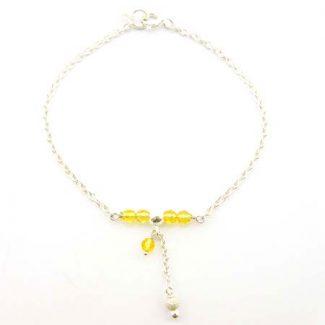 bracelet citrine pierre naturelle tonifiante