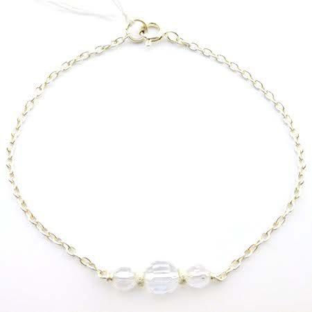 bracelet cristal de roche 1 lithotherpie 3 pierres