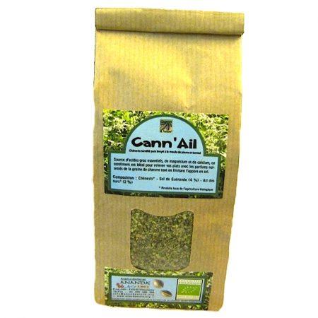 cann-ail graines de chanvre torréfiées au sel et ail des ours biologique