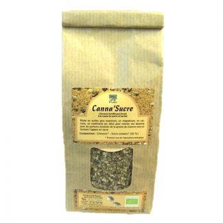 canna-sucre graines de chanvre torréfiées au sucre complet biologique