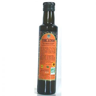 huile triomega chanvre, tournesol, colza bio 25cl ananda & cie