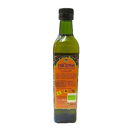 huile triomega chanvre, tournesol, colza bio 50cl ananda & cie