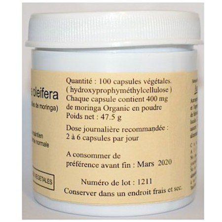 moringa organic 100capsules