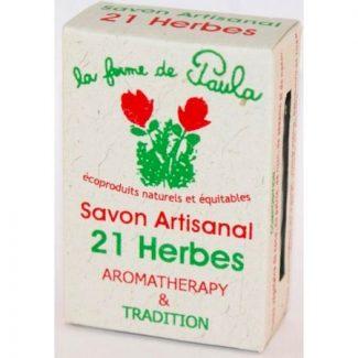 savon ayurvedique 21 herbes naturel végétal
