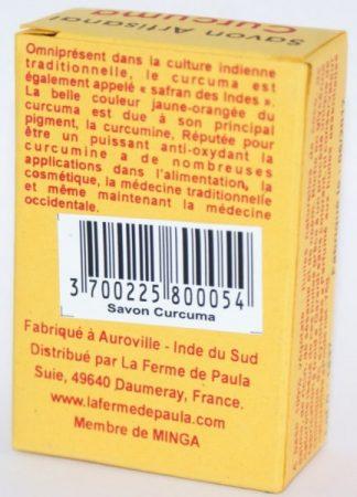 savon ayurvédique végétal curcuma