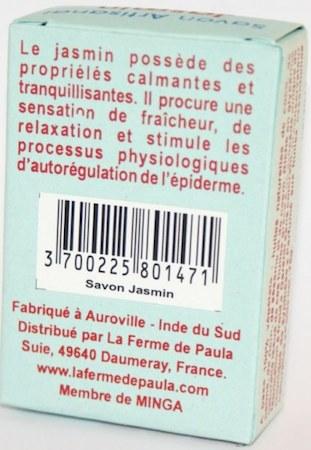 savon ayurvédique végétal jasmin corps et cheveux