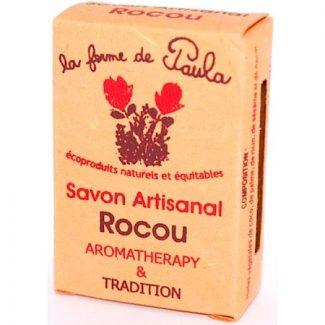 savon ayurvédique végétal rocou corps et cheveux