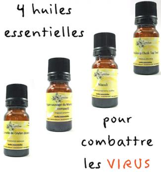 synergie huiles essentielles anti-virales