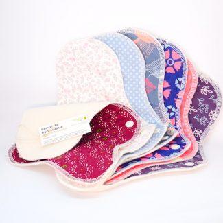 Serviettes hygiéniques lavables coton bio