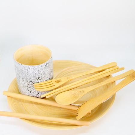 coffret vaisselle bambou naturel réponses bio